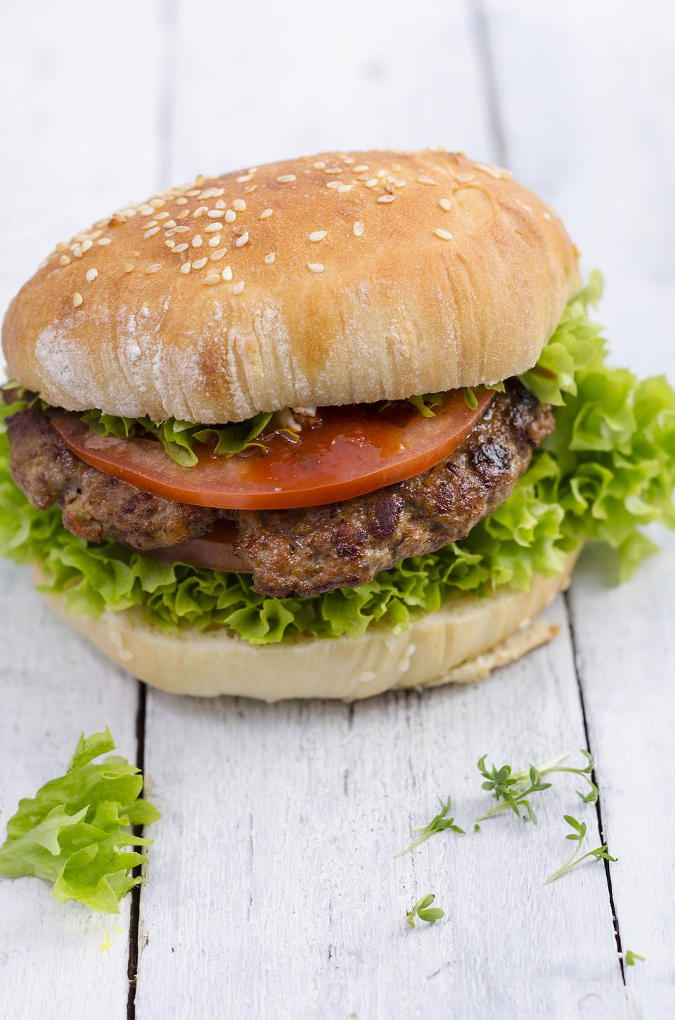 Grilled Dill and Dijon Burgers