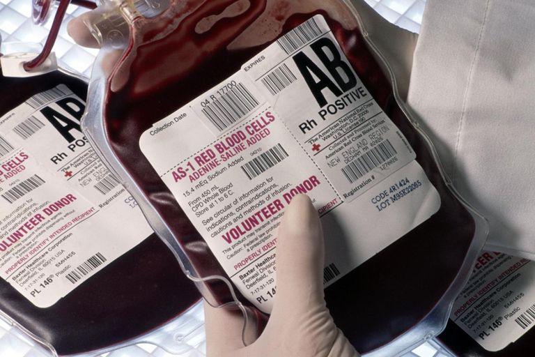 Human blood for transfusion in Boston