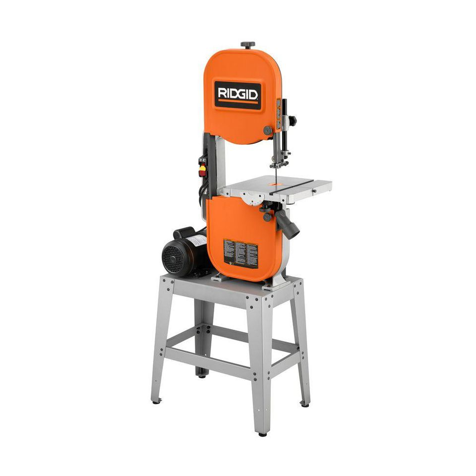 A Ridgid BS1400 Bandsaw in white space