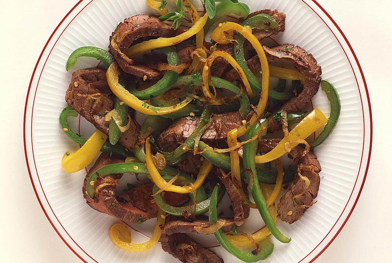 Pepper Flank Steak Recipe With Tomatoes
