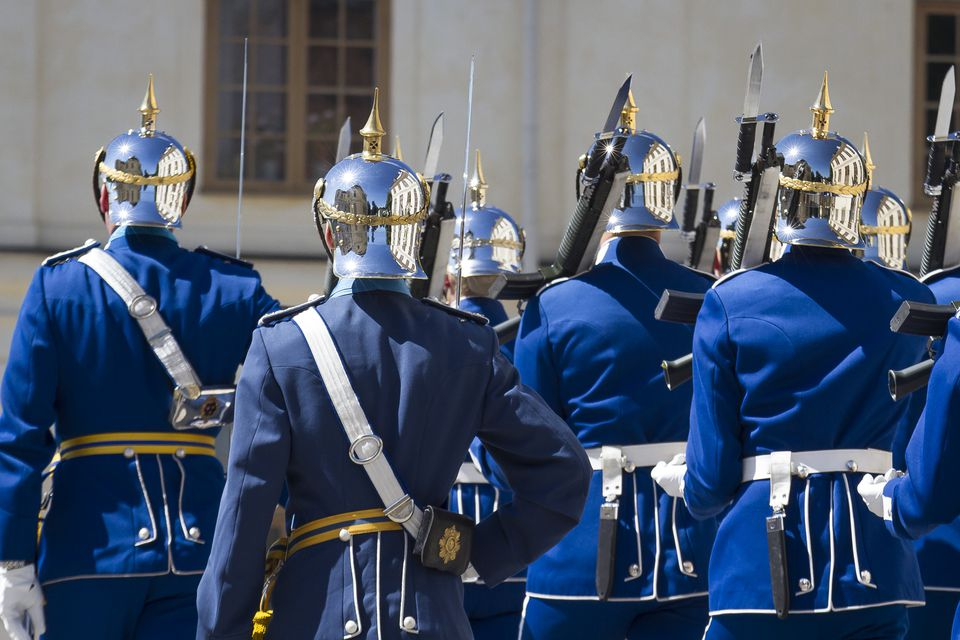 The changing of the guards in Stockholm