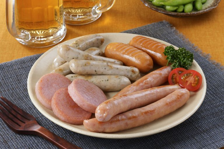 Sausages are high in sodium.