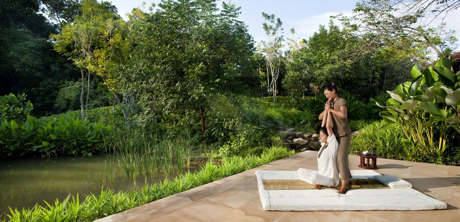 At Phulay Bay Ritz-Carlton in Thailand, you can get a Thai massage.