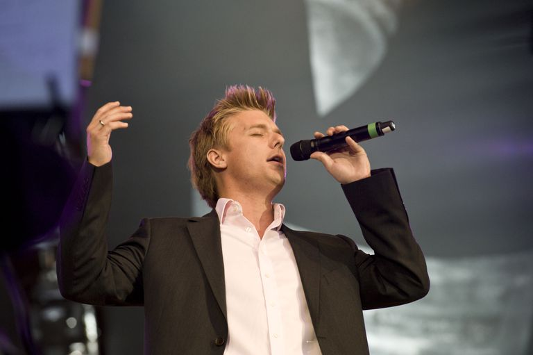 Jonathan Ansell performing live at 'Andrew Lloyd Webber's Birthday in the Park' in Hyde Park, London. 14th September 2008.