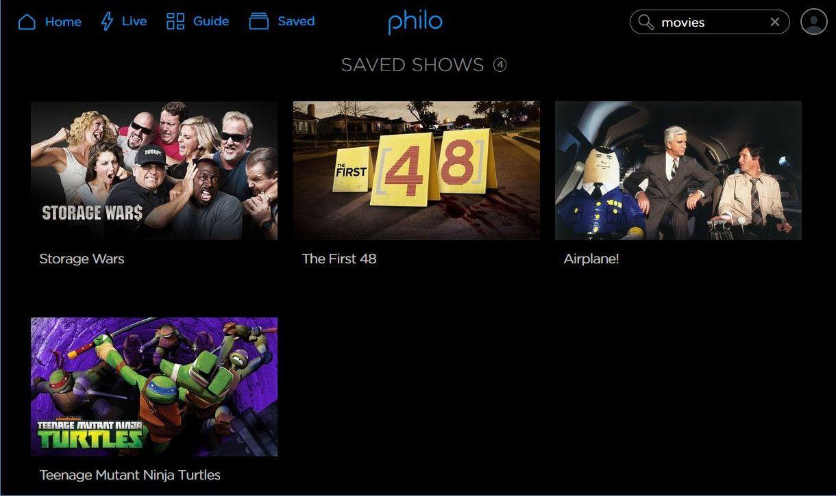 philo tv dvr listing