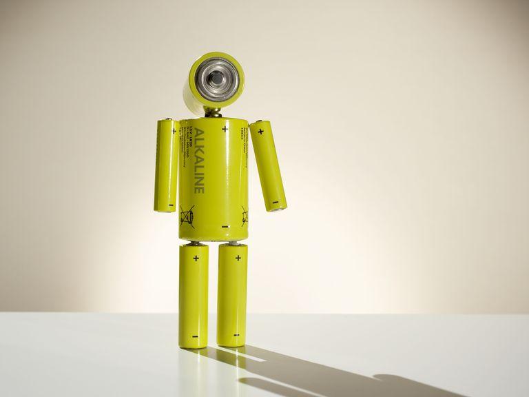 batteries that form human shape