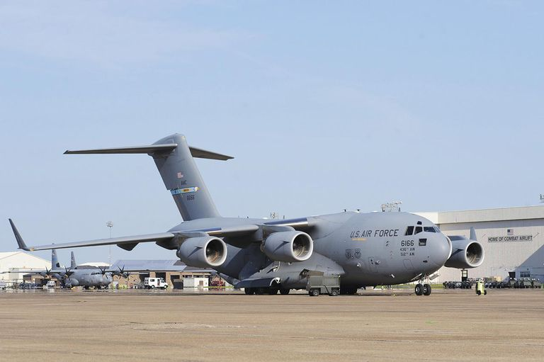 August 27, 2011 - A C-17 Globemaster III is parked on a ramp at Little Rock Air Force Base, Arkansas.