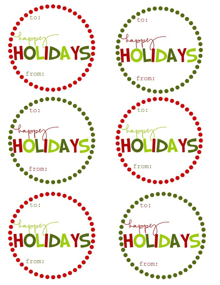 41 Sets of Free Printable Christmas Gift Tags