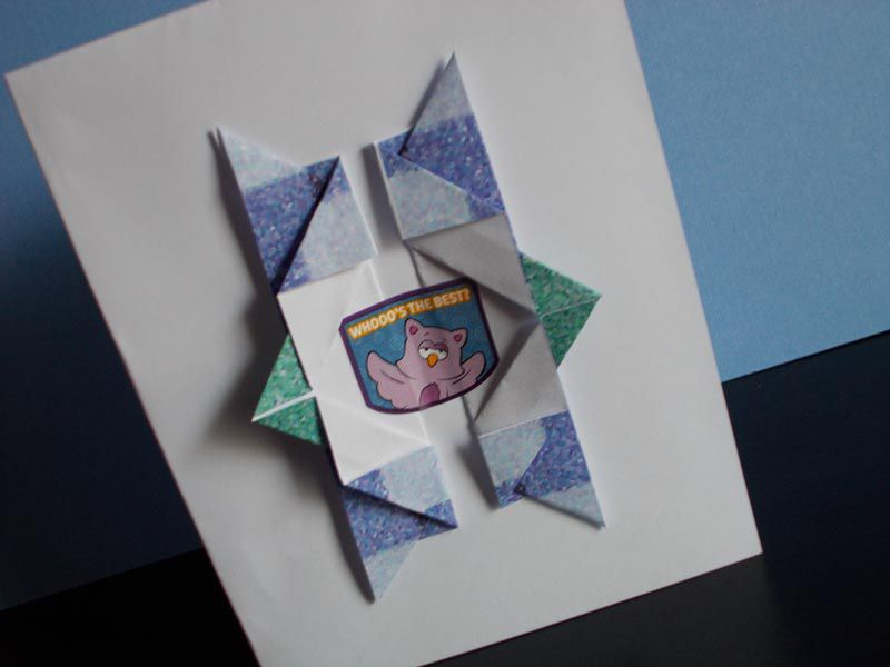 how to make an origami birthday card
