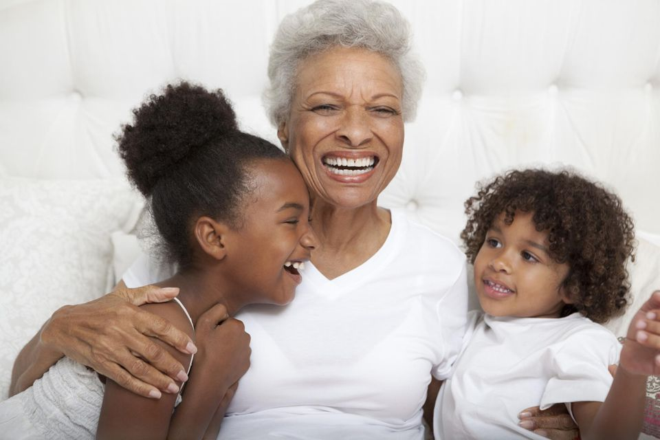 African-American grandmother with granddaughters