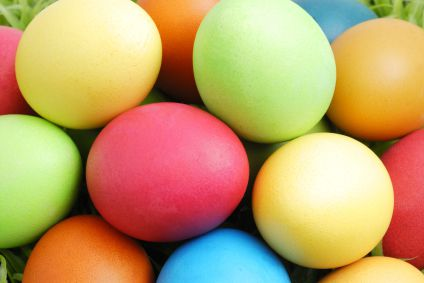 Color Easter eggs together as a family.