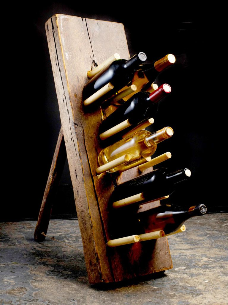 free diy wine rack plans you can build today - primitive wine rack plan from hgtv