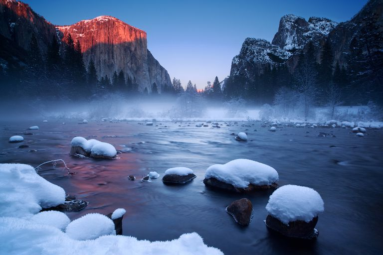 El Capitan, Yosemite in winter