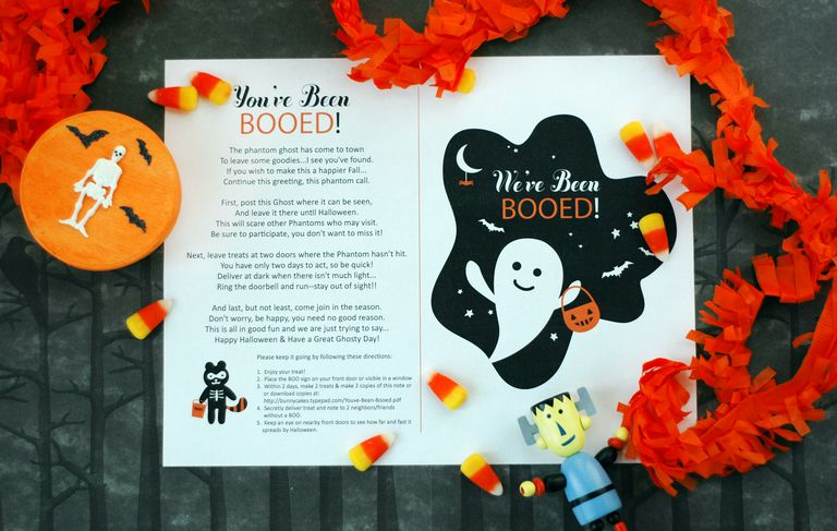 A You've Been Booed printable