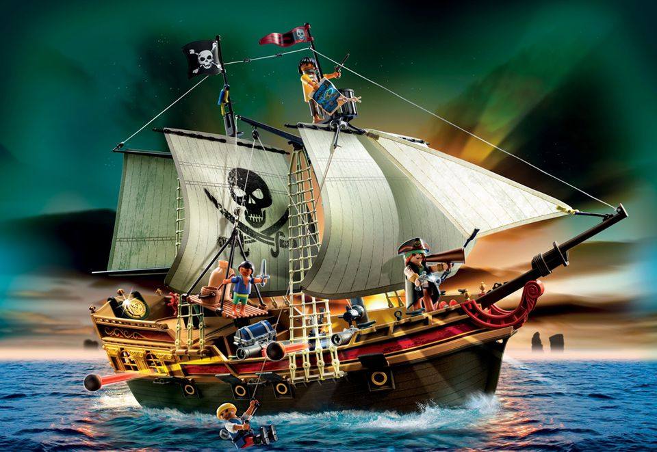 Playmobil Toys Pirate Ship