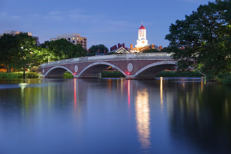 Harvard University Reflecting on the Charles River