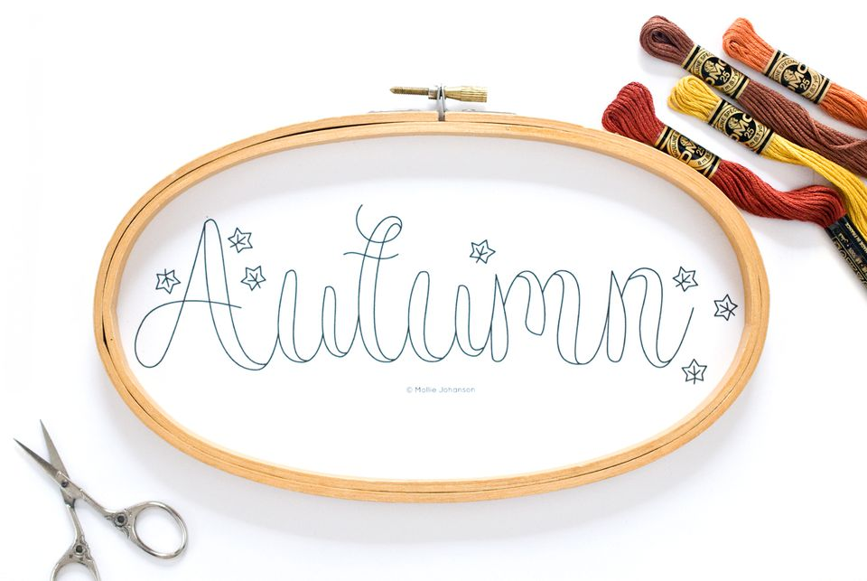 Autumn Embroidery Pattern