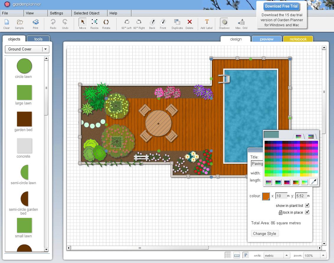 7 free garden planners, Powerpoint templates
