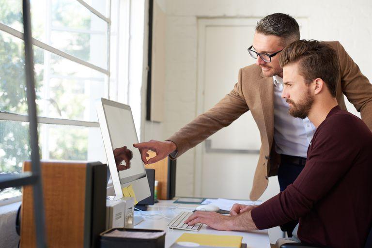 Men Working on a Website