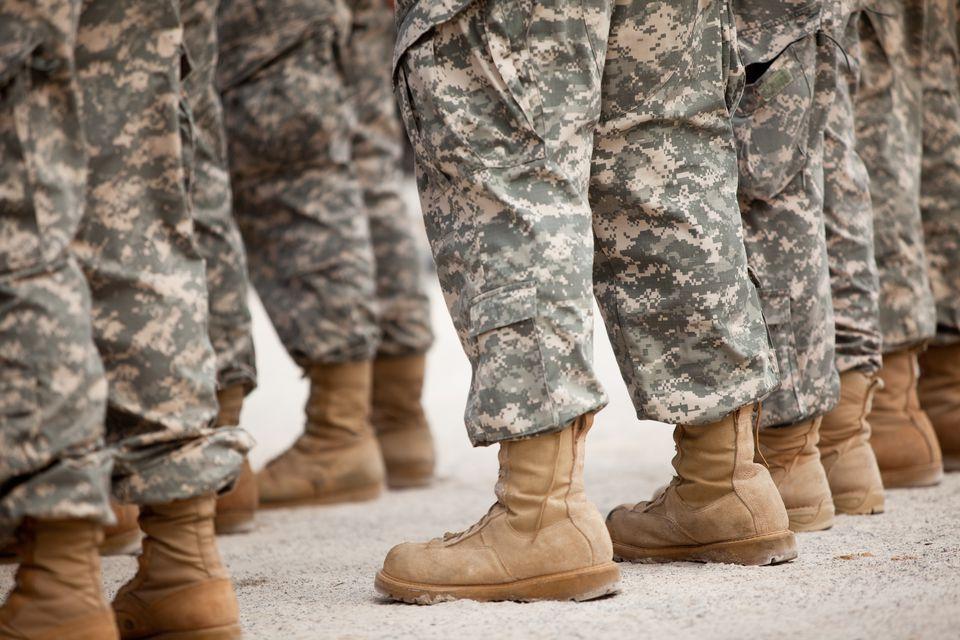 Wash military uniforms