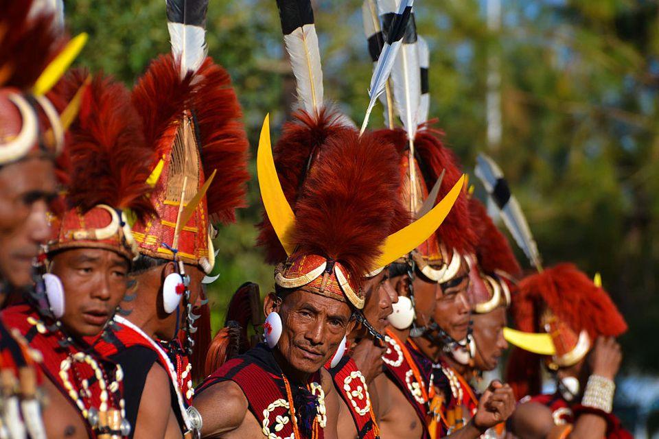 Naga tribesman at the Hornbill Festival.