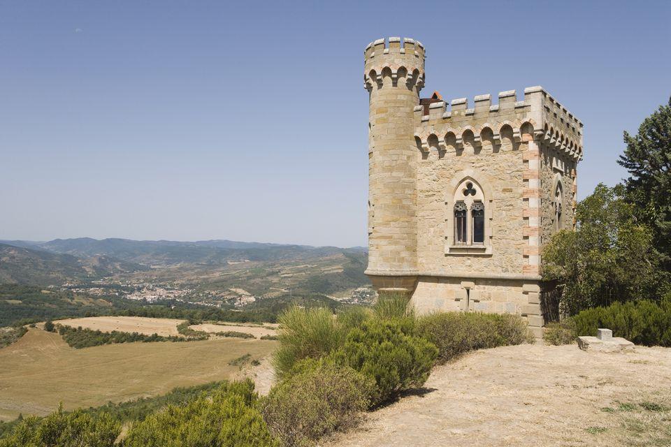 Tower, Rennes-le Chateau, Aude, Languedoc-Roussillon, France, Europe
