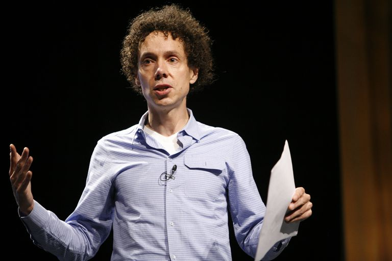 Malcolm Gladwell adresses the public.