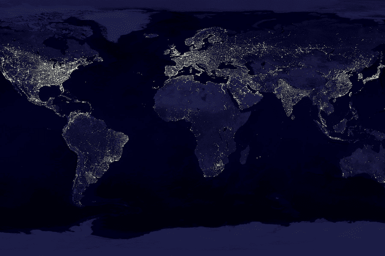 Picture of the world at night