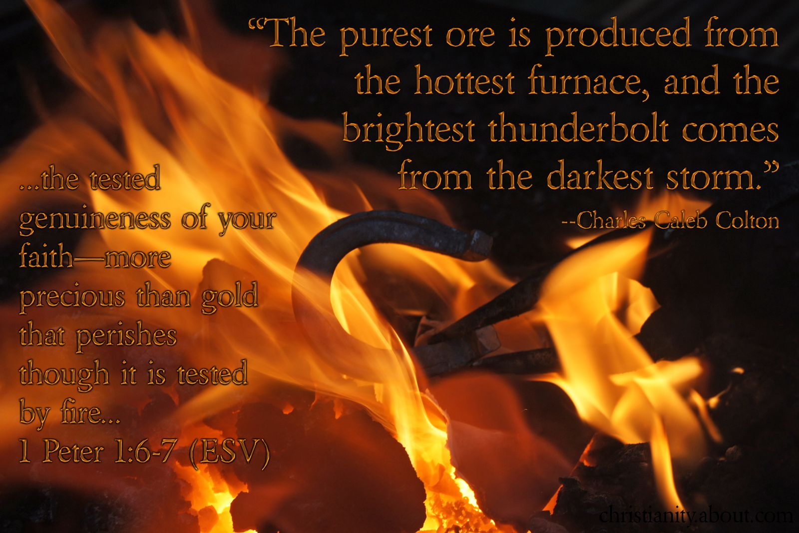 faith tested by fire 1 peter 1 6 7 verse of the day