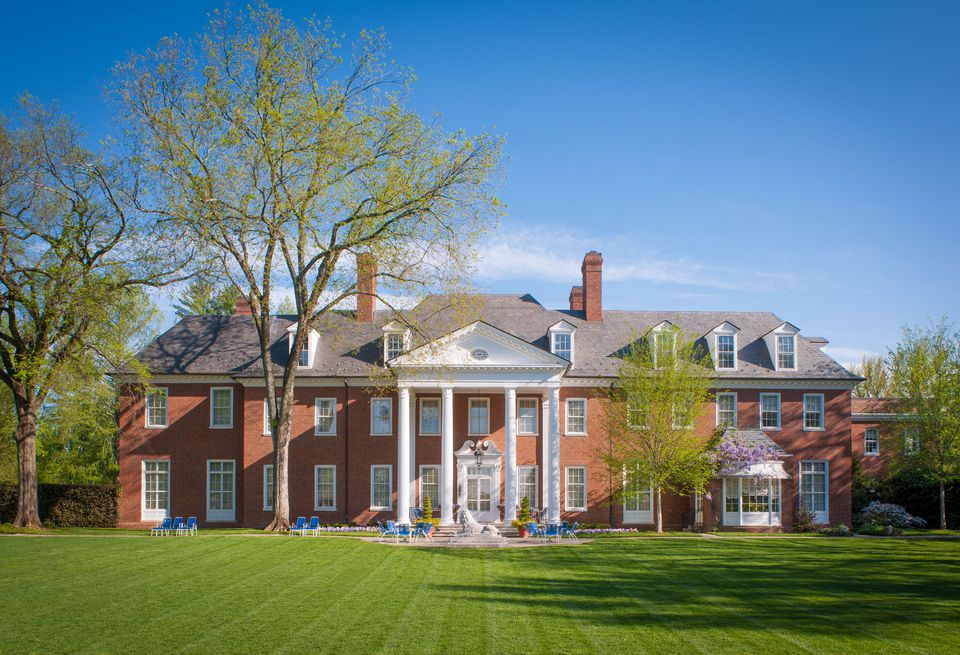 Exterior of the Post Mansion at the Hillwood Estate