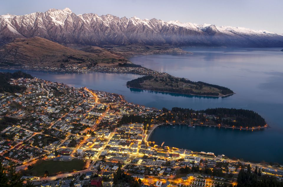 A panoramic view of Queenstown, New Zealand