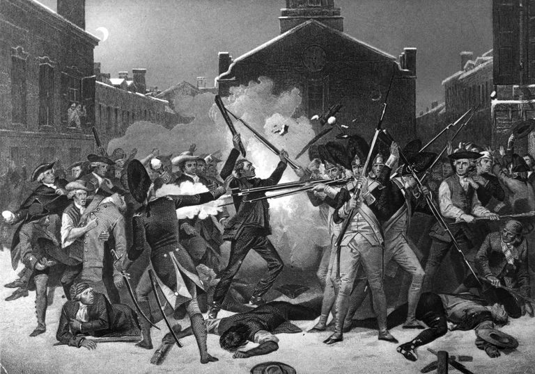Engraving of the Boston Massacre by Paul Revere