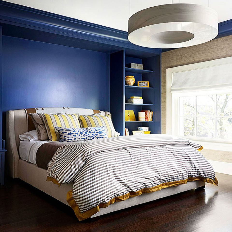bedroom colors brown and blue. Cobalt Blue  Brown and Yellow Gray Teal