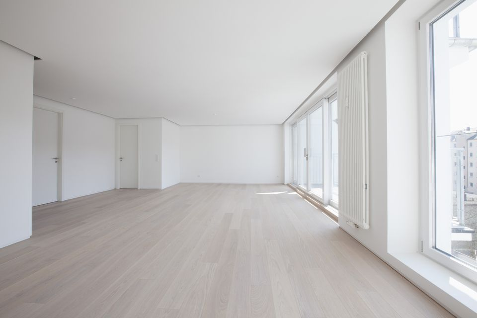 Empty living room in modern apartment