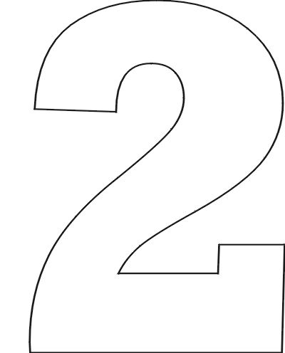 Free printable number stencils for Number 2 cake template