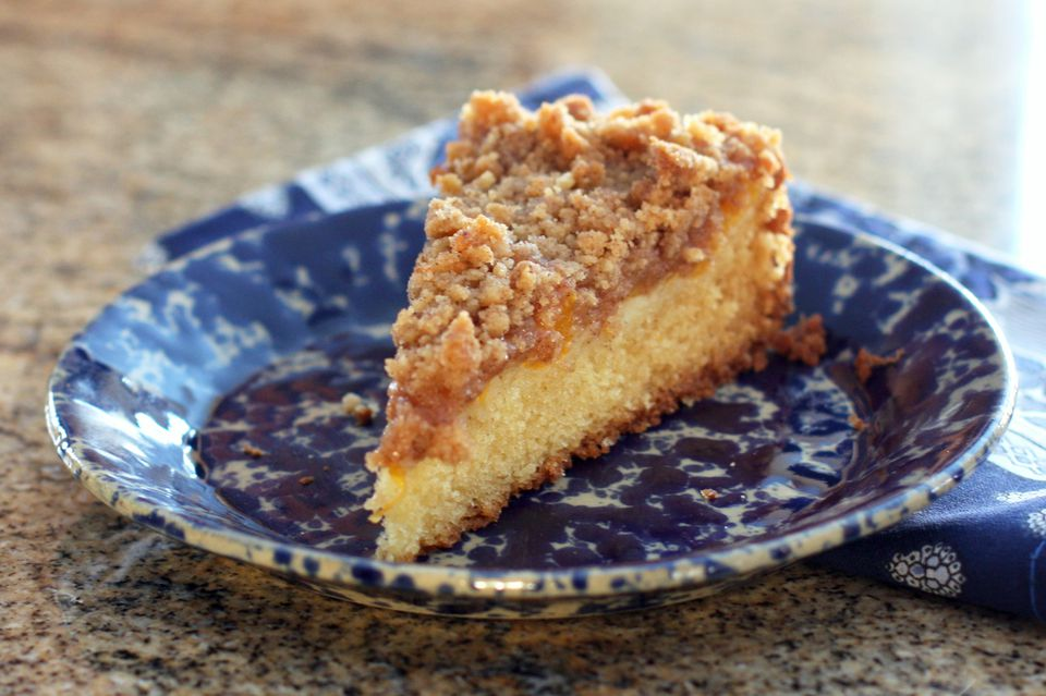 Peach Cake With Crumb Topping