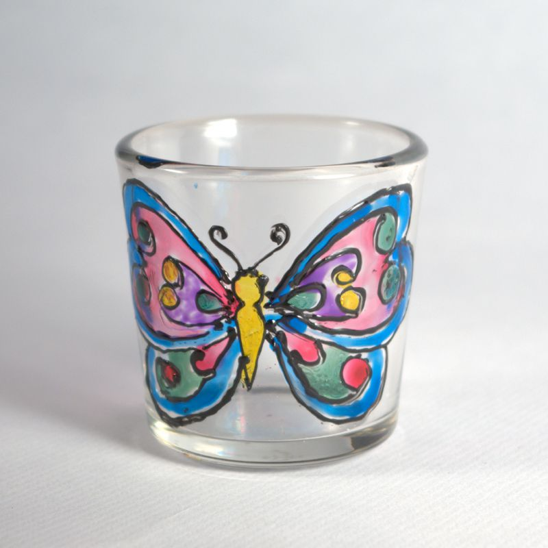 Use Your Rubber Stamps as Glass Painting Templates