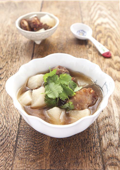 Daikon and Fried Spareribs Soup Recipe