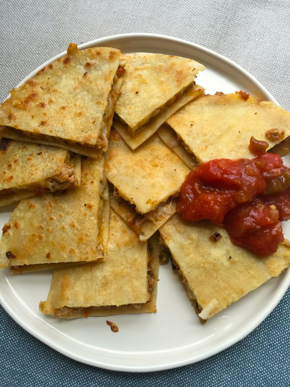 Grilled Quesadillas with Turkey and Sundried Tomato Pesto