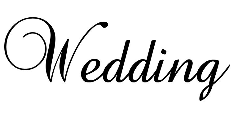The Word Wedding In Free Font Baroque Script