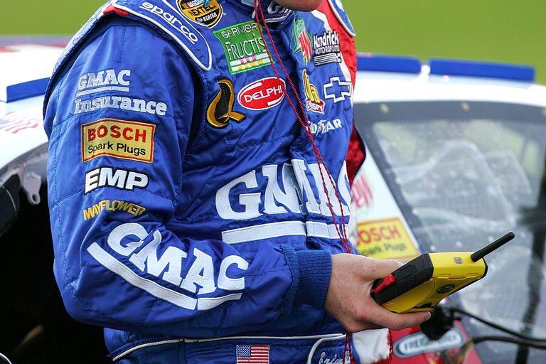 NASCAR driver listening to scanner