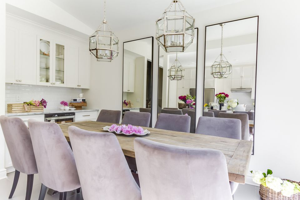 pale violet dining chairs