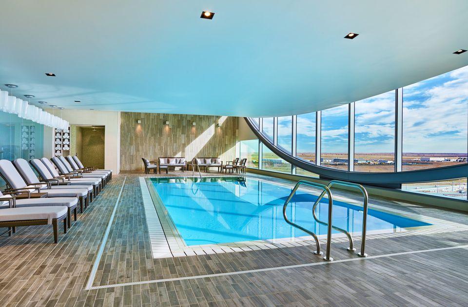 Contemporary swimming pool at Westin DIA