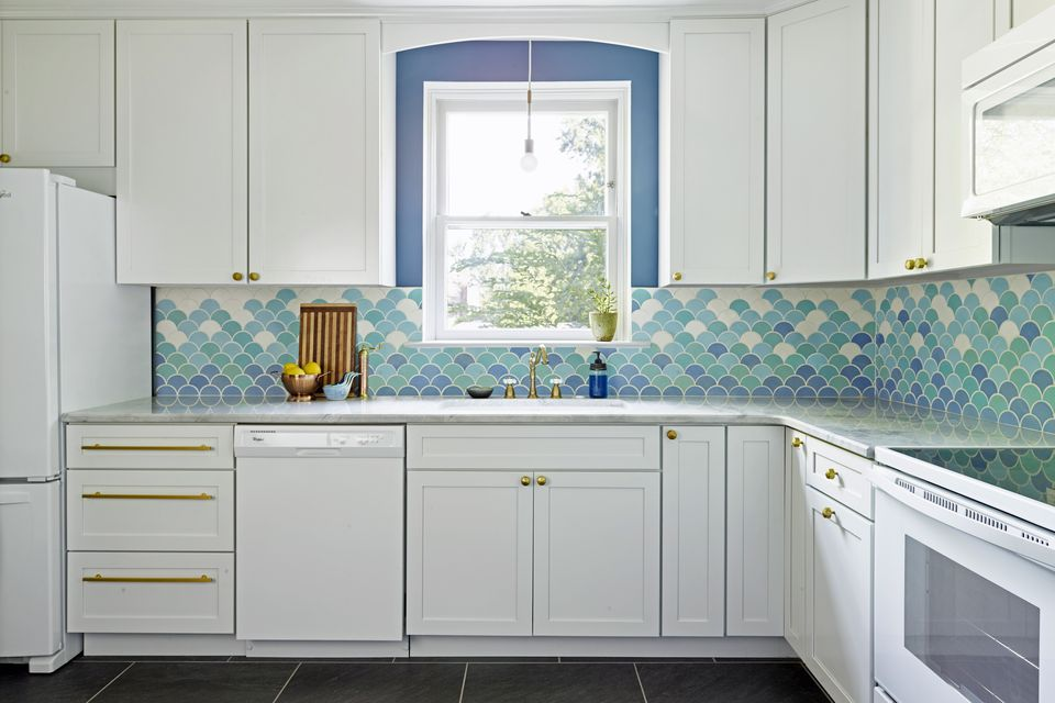 white kitchen with blue backsplash beautiful blue kitchen design ideas 1832