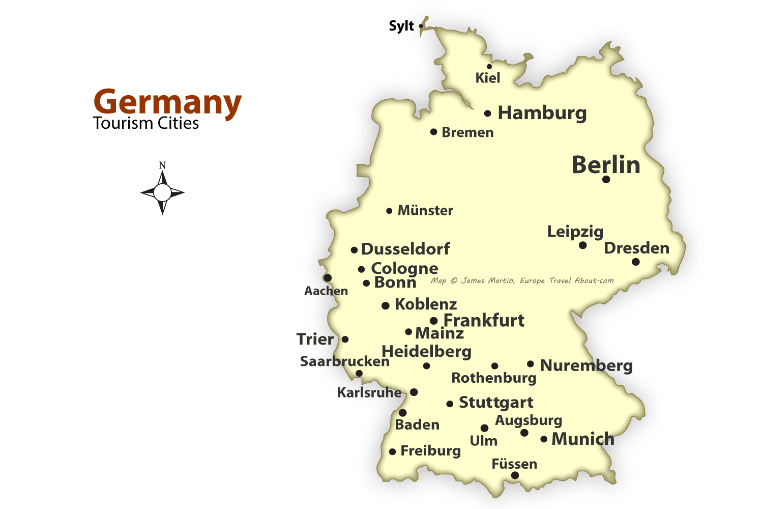 German Cities Map Best Places To Visit In Germany - Germany map ulm