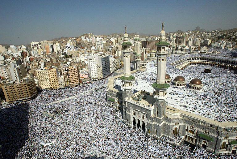 Muslim Pilgrims Attend Friday Prayer In Makkah