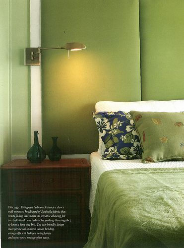 A fabric headboard or fabric headboard panels are a great idea for staging  or living. How to Make your Staged Bedroom More Inviting to Buyers
