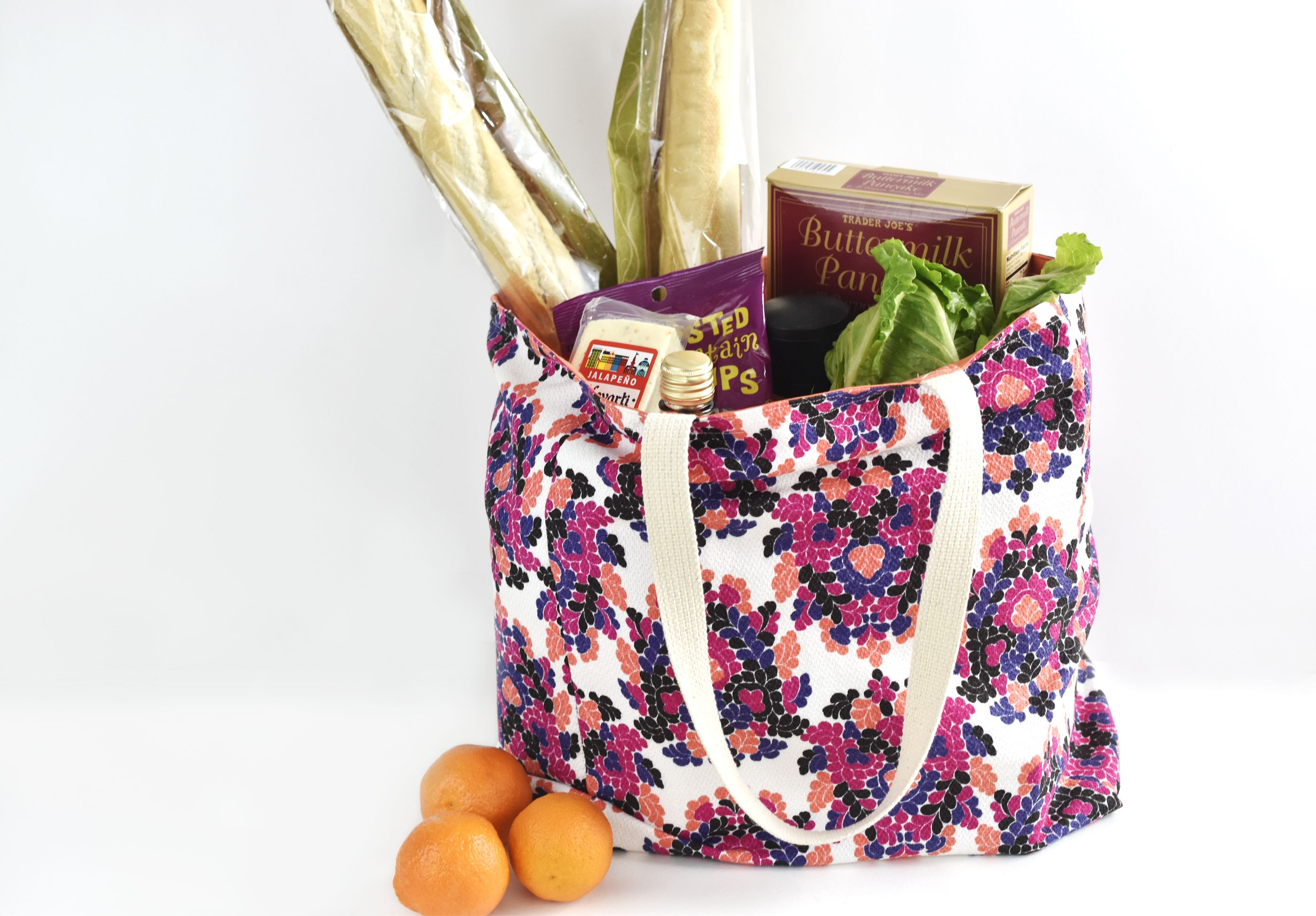 Free sewing pattern for a durable reusable grocery bag jeuxipadfo Gallery
