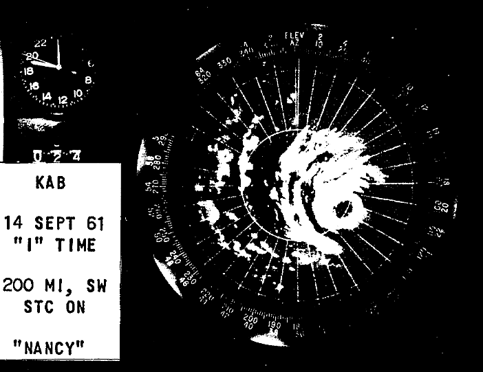 Typhoon Nancy1961-radar