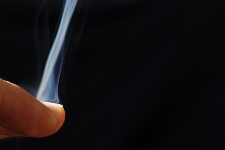 Although the smoke magic trick looks awesome if you use your hands, you may wish to wear disposable plastic gloves to avoid absorbing phosphorus through your skin.